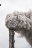 вздымаясь стог дыма Стоковые Фотографии RF