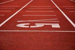 взлётно-посадочная дорожка атлетики Стоковые Изображения