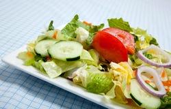 взметнутый салат плиты вилки Стоковое Фото