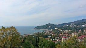 Взморье Сочи от высоты, города и моря Стоковое Изображение RF