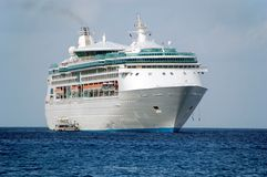 взойдите на борт каникулы корабля круиза exciting Стоковое Изображение RF