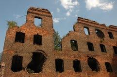 взорванная дом Стоковая Фотография RF