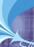 взорвите голубой джаз рожочка Стоковая Фотография