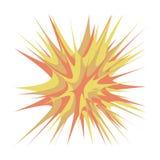 Взорвите иллюстрацию вектора Элемент челки шаржа вектор иллюстратора формы взрыва eps дополнительной книги 8 шуточный Стоковая Фотография RF