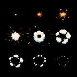 Взорвите рамки взрыва шаржа анимации влияния Стоковая Фотография RF
