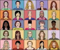 Взрослая женщина двадцать пять иллюстрация штока