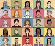Взрослая женщина двадцать пять иллюстрация вектора