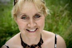 взрослая красивейшая женщина портрета Стоковая Фотография