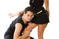 Взрослая латинская танцулька Стоковое Изображение