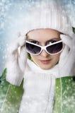 взрослые детеныши женщины зимы портрета Стоковое Фото