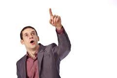 взрослый изолят бизнесмена предпосылки Стоковое Изображение RF