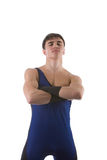 взрослый спортсмен стоя молод Стоковая Фотография RF