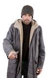 Взрослый человек держа нож Стоковое фото RF