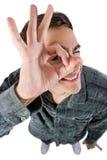 взрослый peeking детеныши Стоковое Изображение RF