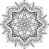 Взрослая страница расцветки, мандала стоковое изображение rf
