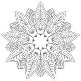 Взрослая страница расцветки Стоковое Изображение