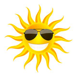 взрослые молодые Солнце в стеклах Стоковые Изображения RF