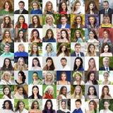 Взрослые портреты красивых людей и женщин стоковая фотография