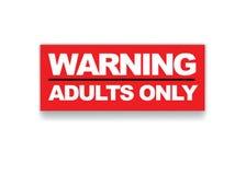 Взрослые только Стоковое фото RF