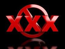 Взрослые XXX только удовлетворяют знак Стоковые Изображения RF