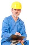 Взрослый кавказский работник стоковая фотография rf