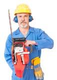 Взрослый работник в форме стоковые изображения
