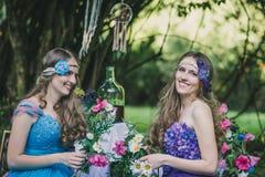 2 взрослых сестры близнецы Стоковые Фотографии RF