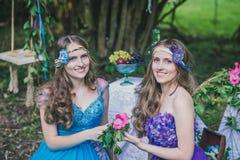 2 взрослых сестры близнецы Стоковое Изображение RF