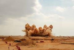 Взрывать на строительной площадке в Омане стоковое изображение rf