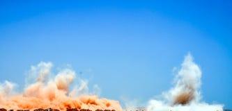 Взрывая взрывать утеса стоковая фотография
