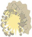 Взрывая искусство зажима вектора стены Стоковое Изображение