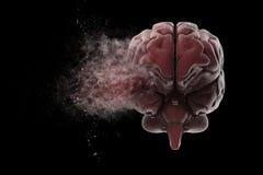 Взрывая мозг иллюстрация штока