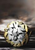 Взрывая монетка евро Стоковые Фотографии RF