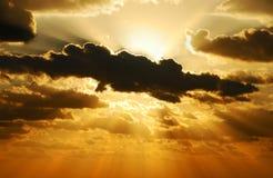 взрывая солнце стоковая фотография rf