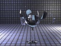 взрывая стекло иллюстрация вектора