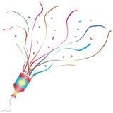 взрывая popper партии иллюстрация вектора