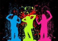 взрывно партия девушок Стоковая Фотография