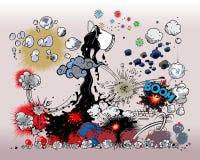 взрывы книги шуточные Стоковое Фото