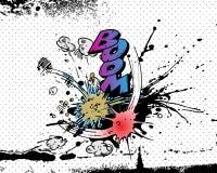 взрывы книги шуточные Стоковое фото RF