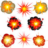 взрывы Стоковая Фотография