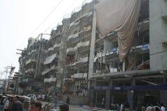 Взрыв автомобиля в Пешаваре Пакистане Стоковое Изображение RF