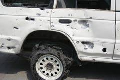 Взрыв автомобиля в Пешаваре Пакистане Стоковые Фотографии RF