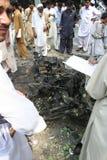 Взрыв автомобиля в Пешаваре Пакистане Стоковое фото RF