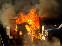 Взрыв автомобиля на выставке Стоковые Фото