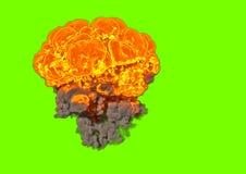 Взрыв бомбы - перевод 3D Стоковые Изображения