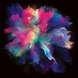 Взрыв выплеска краски цифров красочный стоковое фото