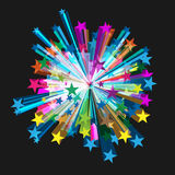 Взрыв звезды вектора Стоковое Фото