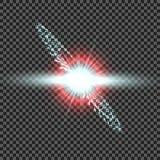 Взрыв звезды в космосе Яркое зарево Твердые частицы Flighting Предпосылка космоса Стоковая Фотография RF
