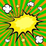 Взрыв комика заграждения, иллюстрация вектора Стоковые Фотографии RF