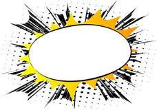 Взрыв конспекта комика вектора Предпосылка пробела мультфильма иллюстрация вектора
